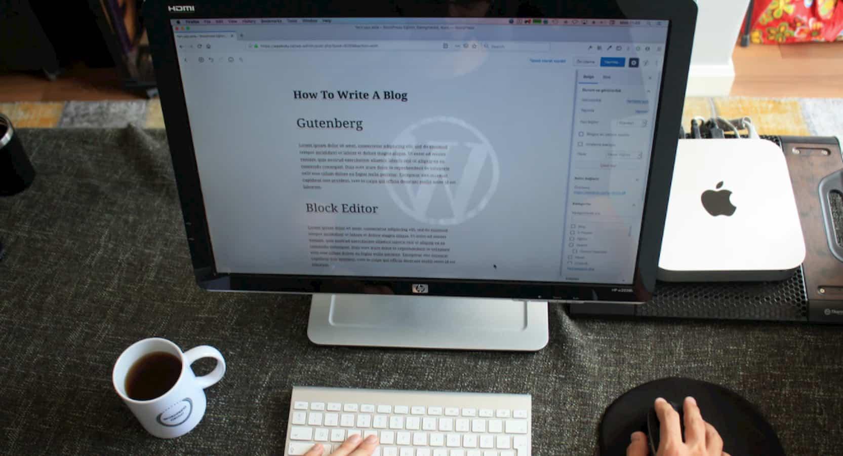 wordpress on a monitor