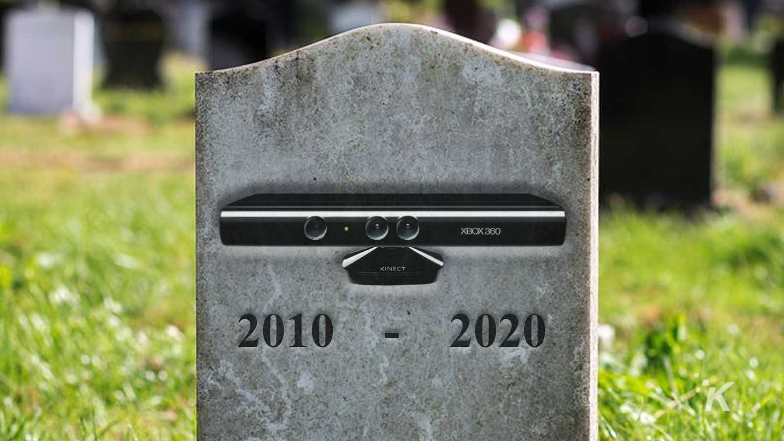 xbox kinect on gravestone