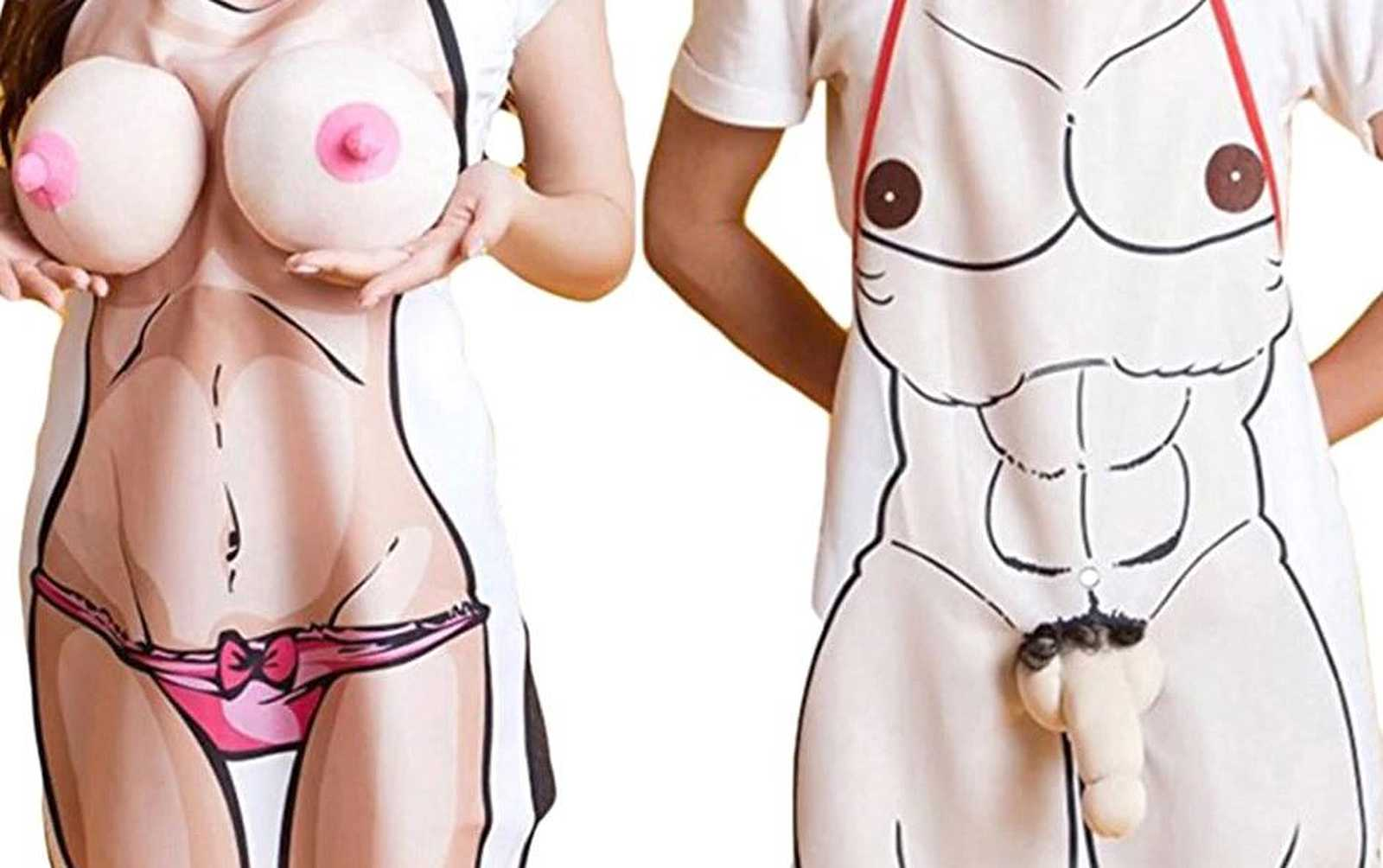 naked 3d apron