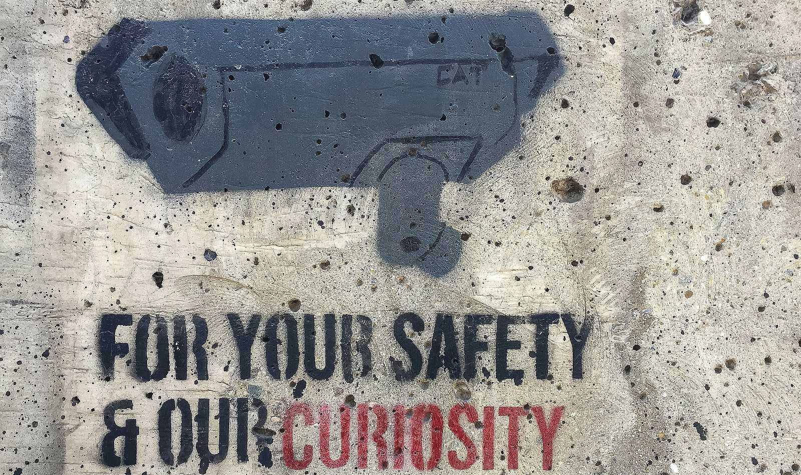 anti surveillance graffiti