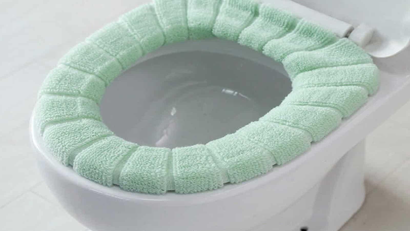 fuzzy toilet cover on ali express