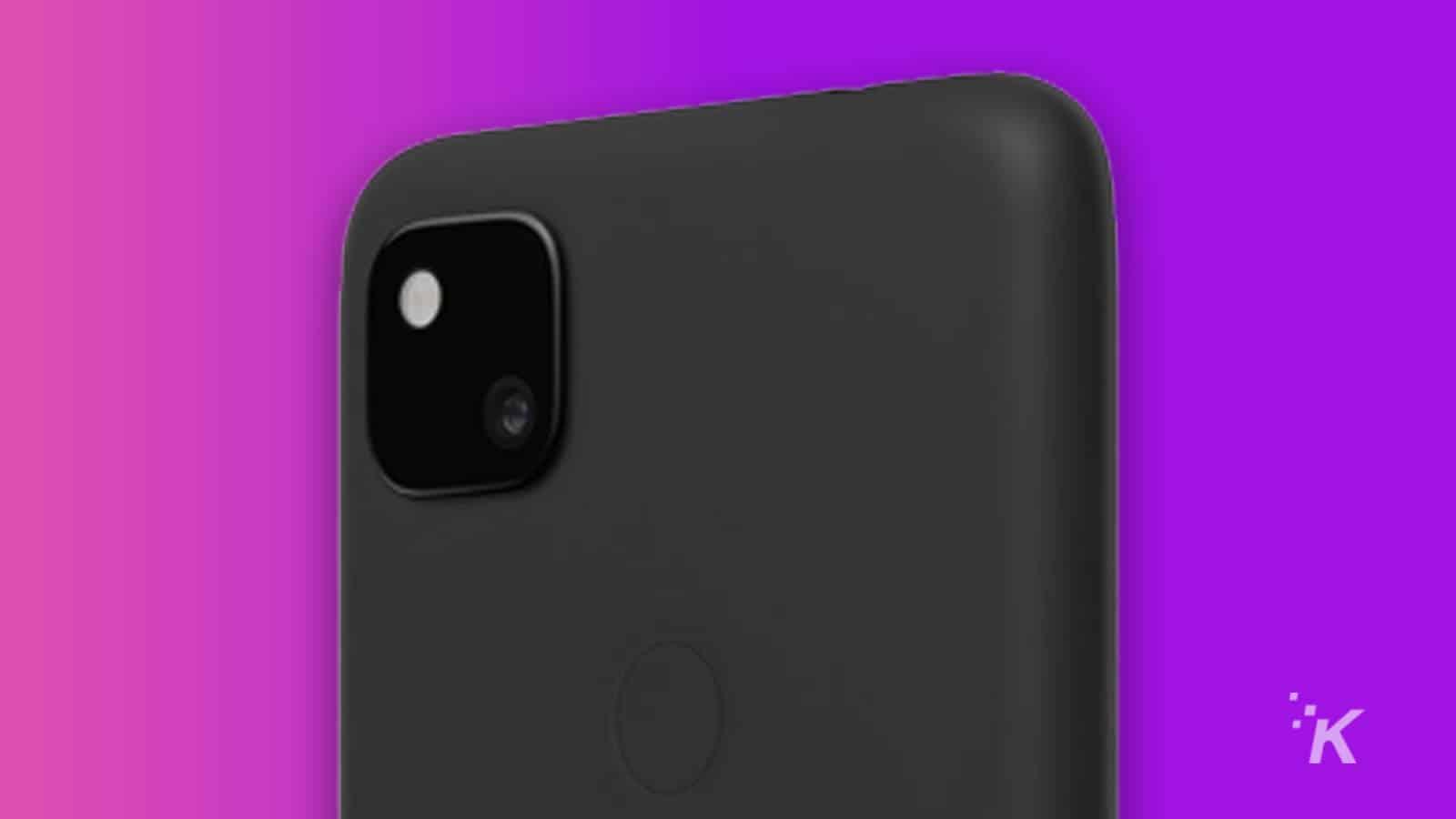 google pixel 4a camera up close