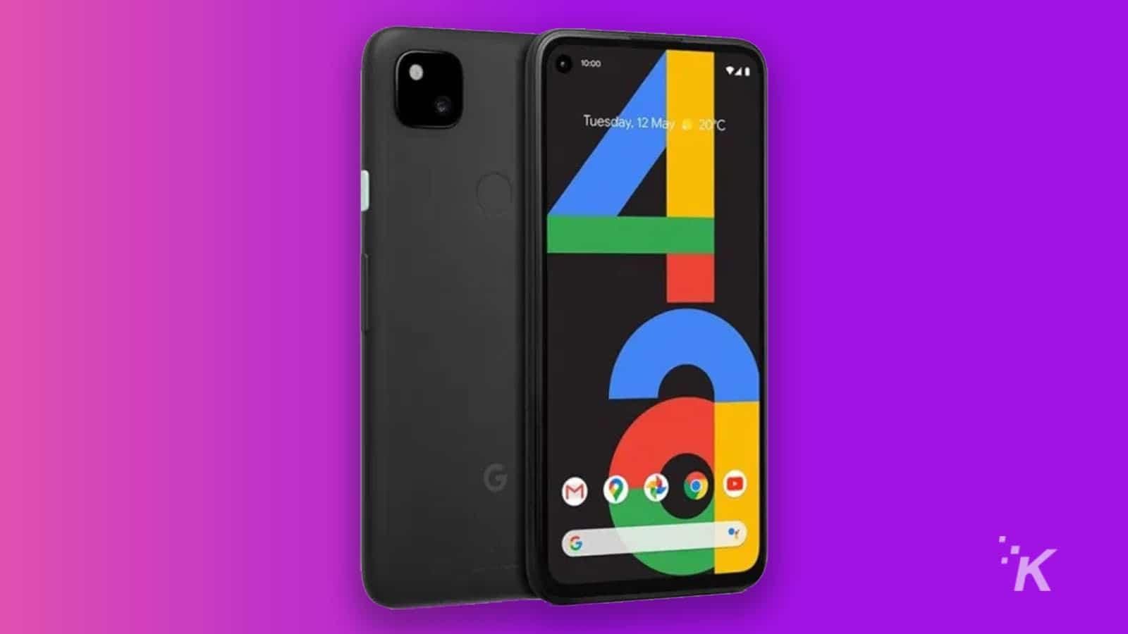 google pixel 4a screen