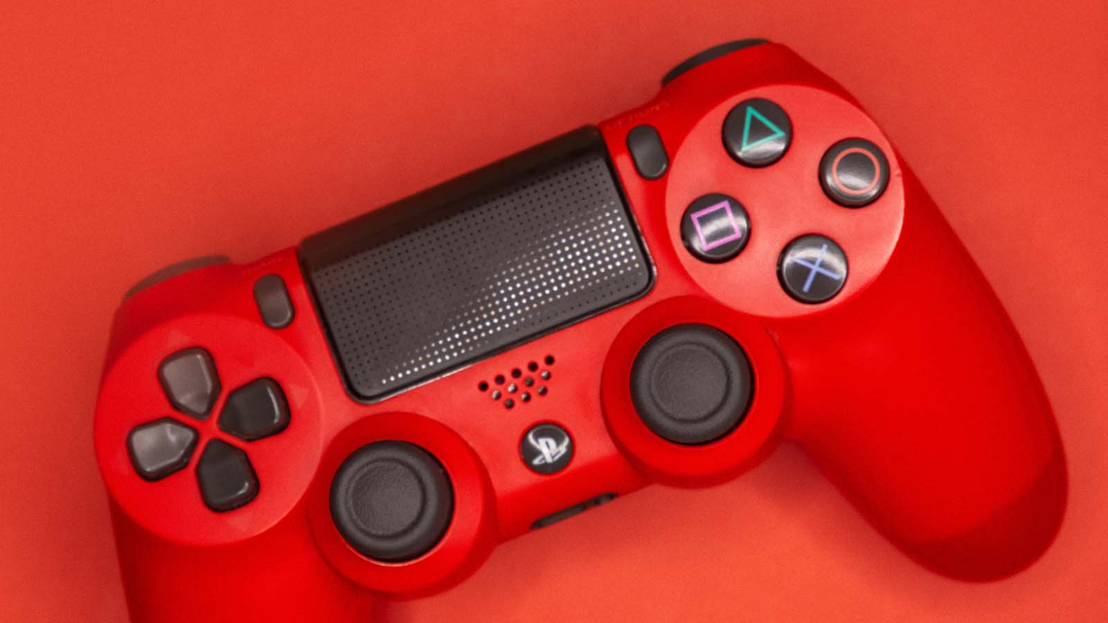 red playstation 4 controller