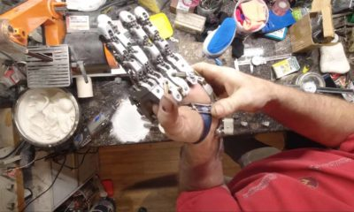 prosthetic hand on table
