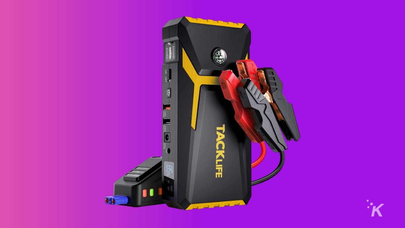 tacklife portable car jump starter