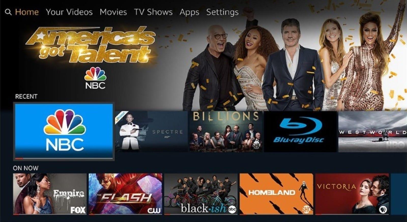 amazon fire tv dashboard