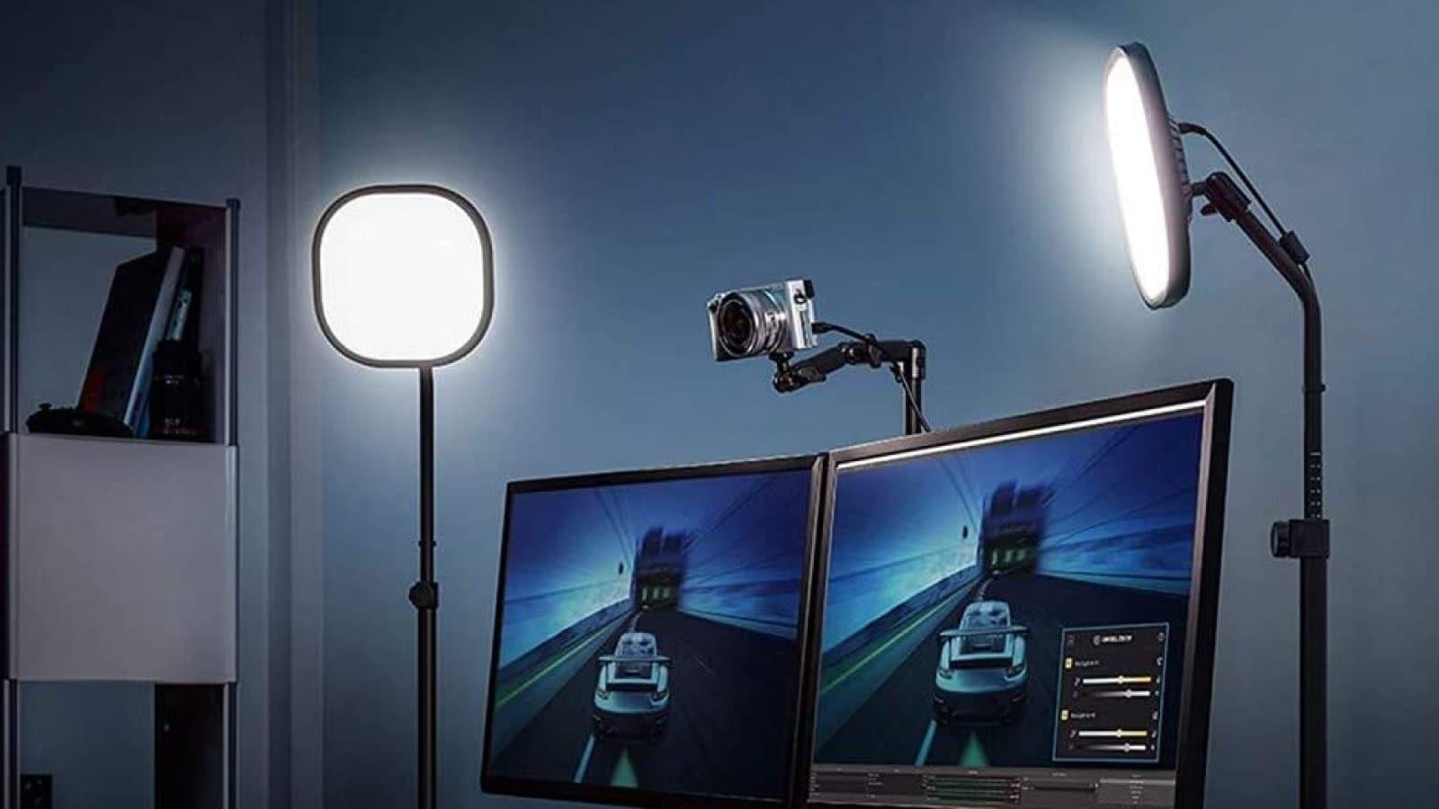 elgato key light air lights in use on desktop