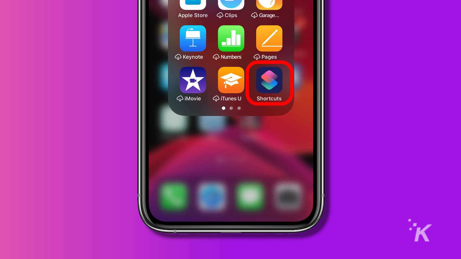 shortcuts app on iphone