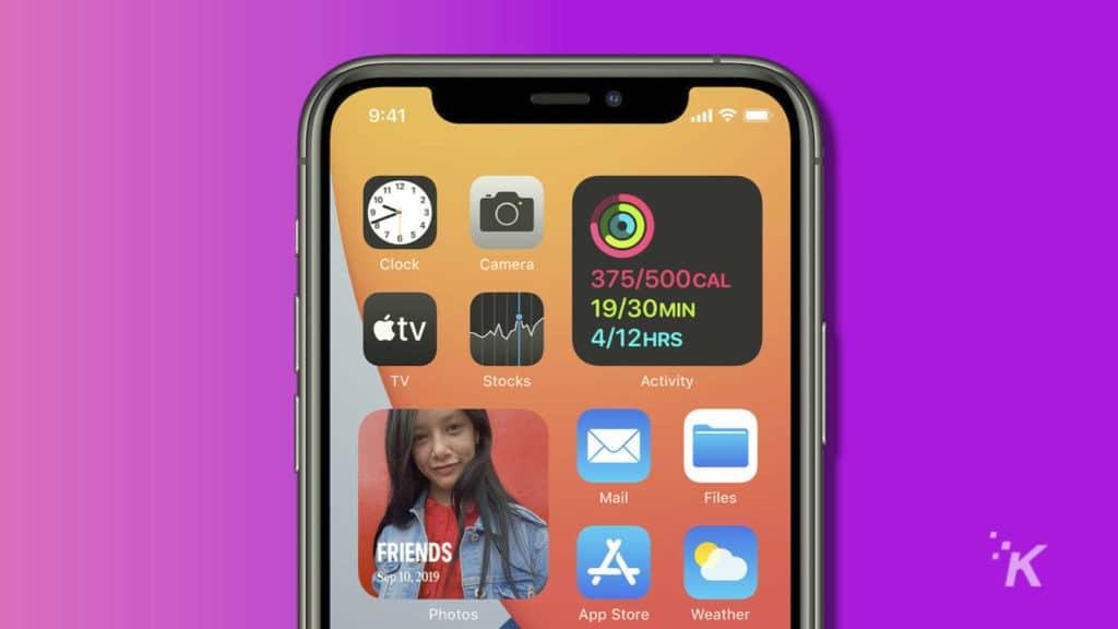 ios 14 widgets on home screen