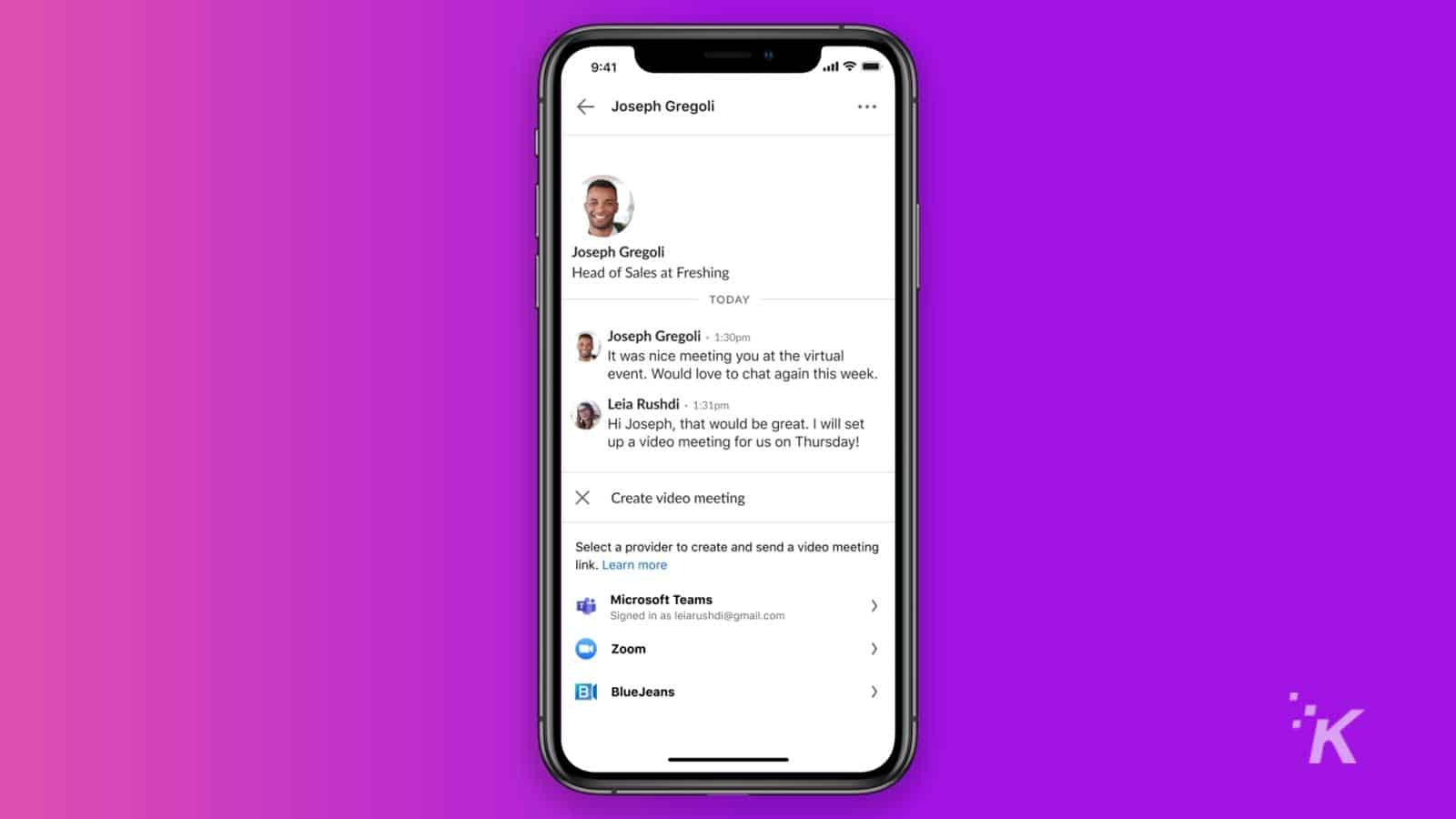 linkedin meetings on iphone