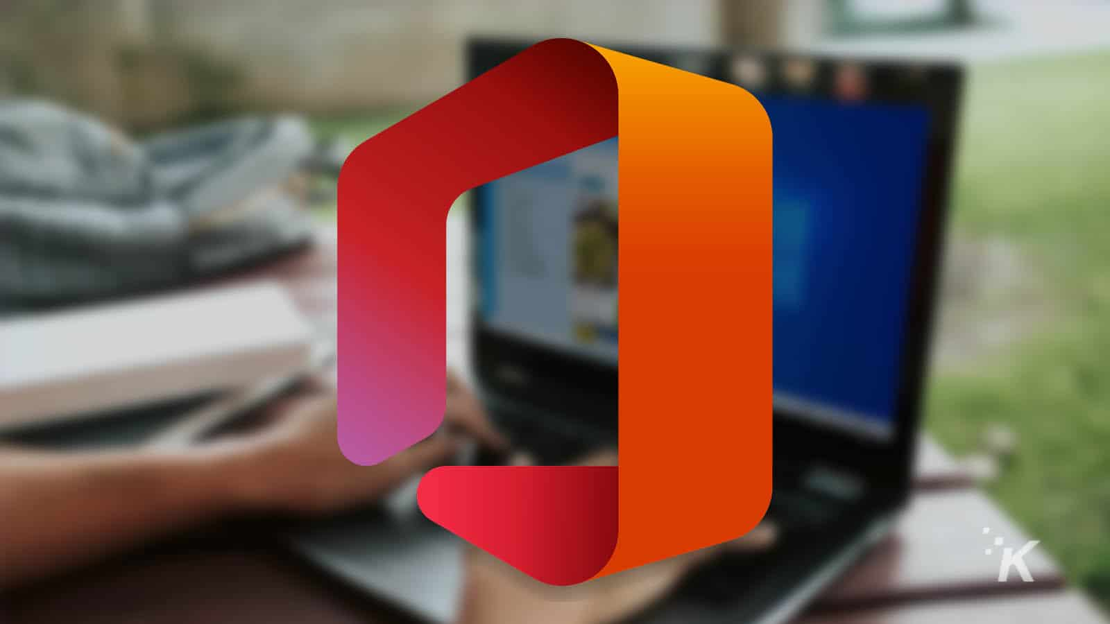 microsoft office with blurred background