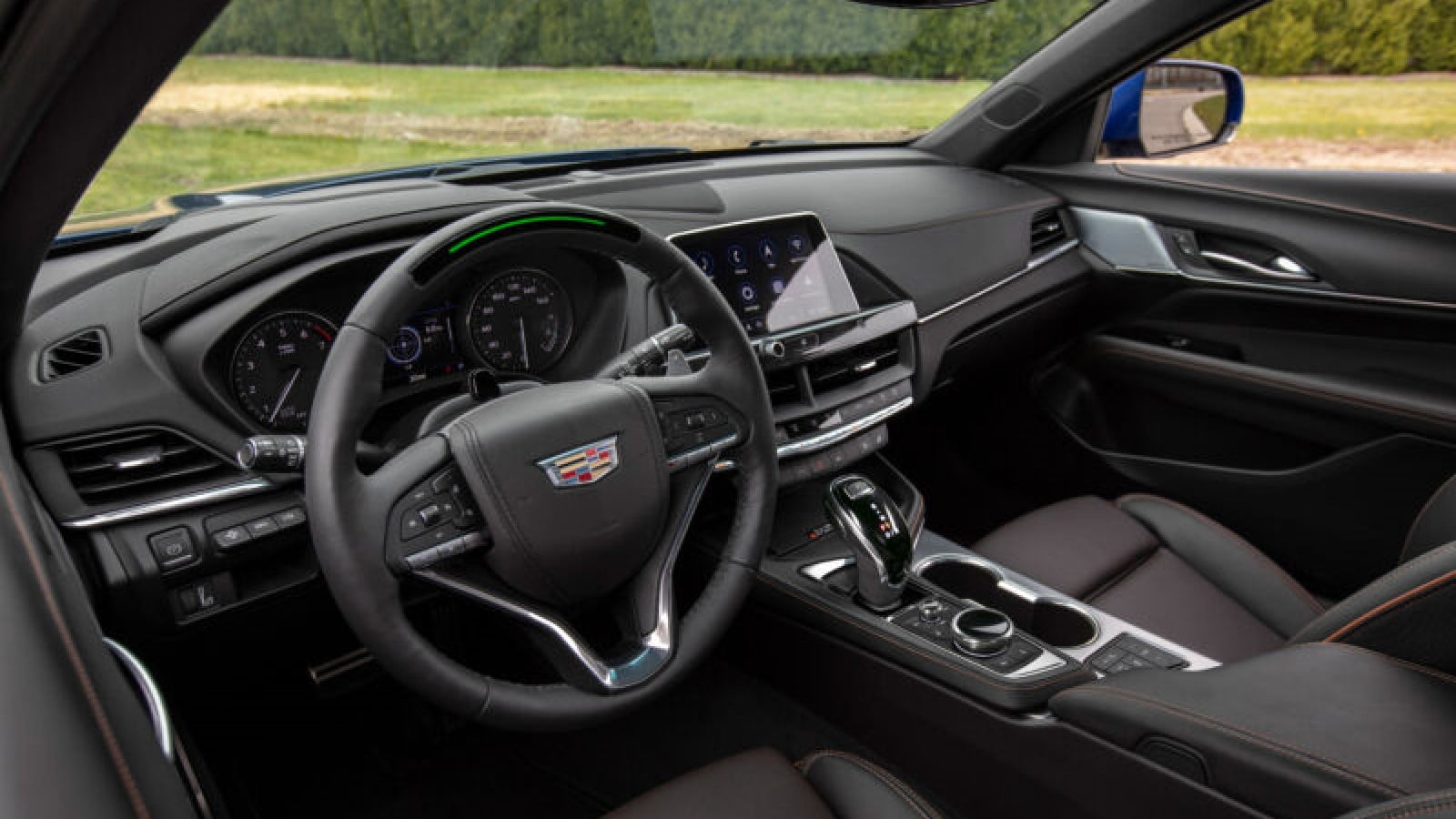 interior of a cadillac ct4-v