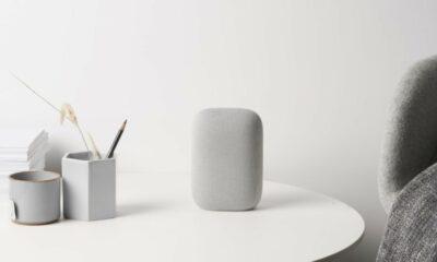 google nest audio smart speaker on table