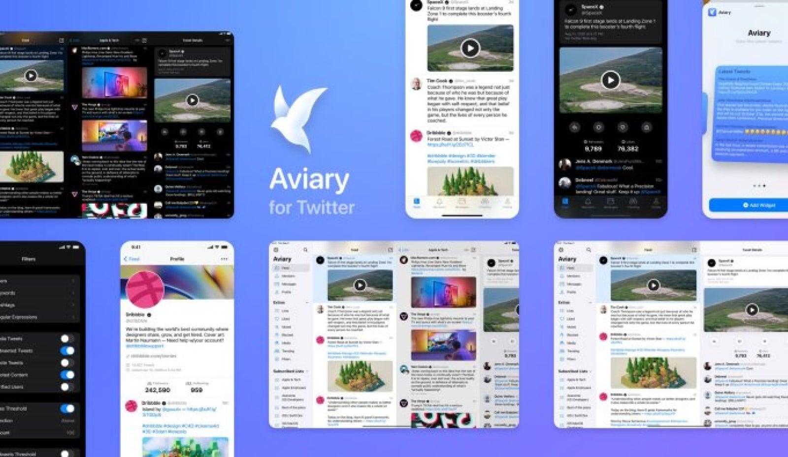 aviary app widgets