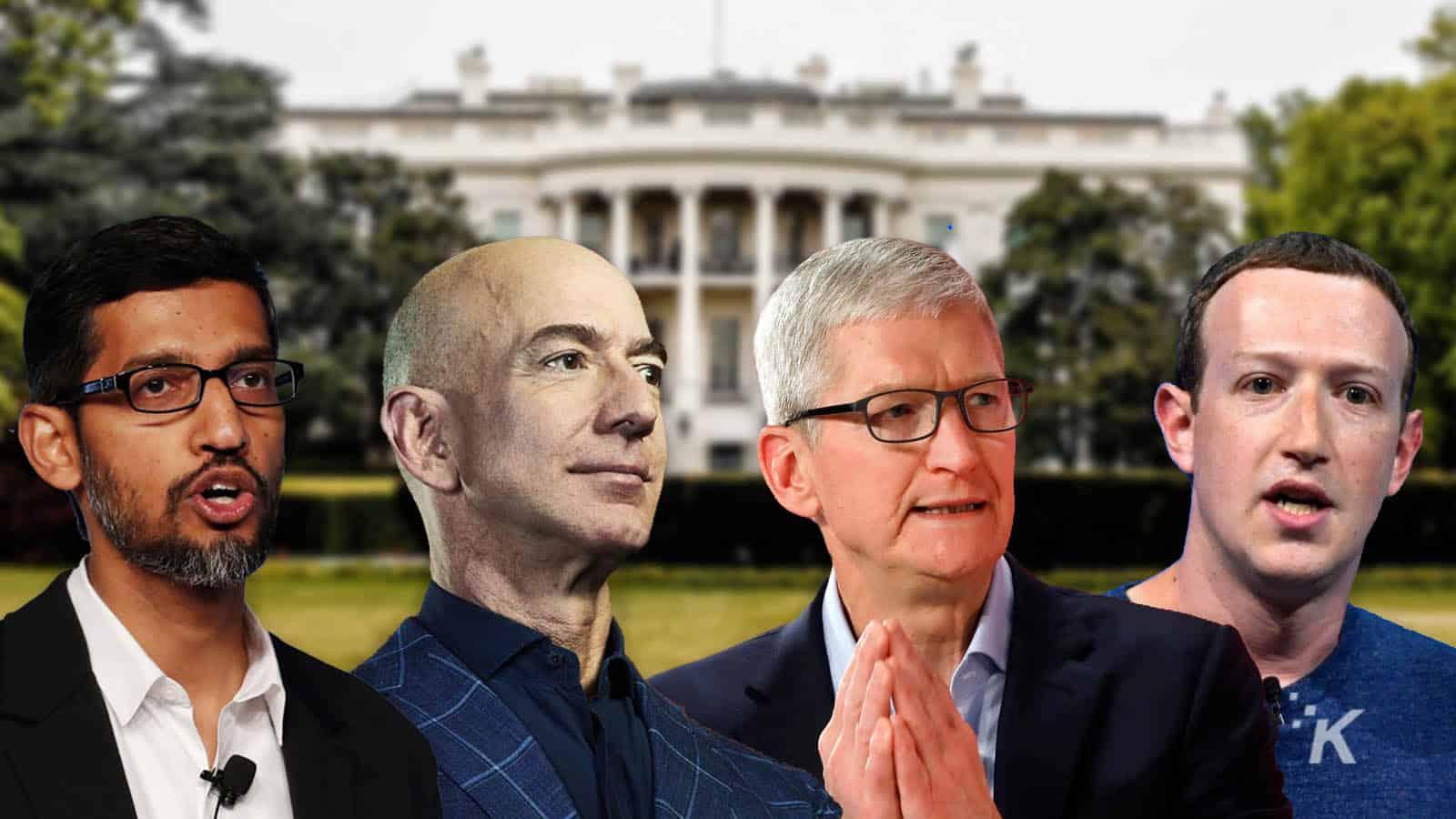 big tech ceos from facebook, amazon, google, apple
