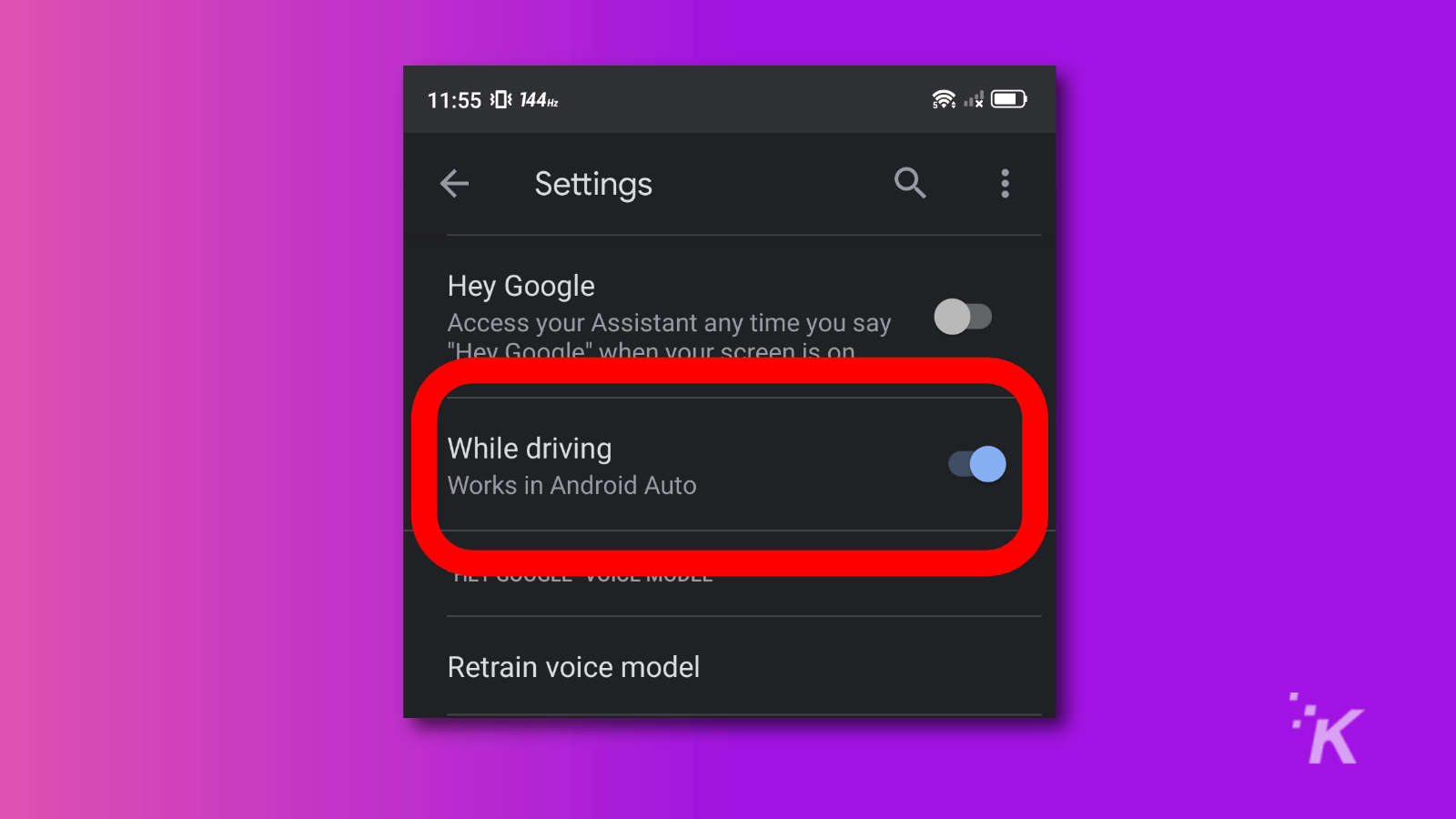 android auto voice match