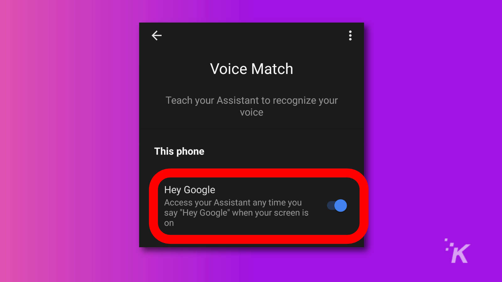 android voice match