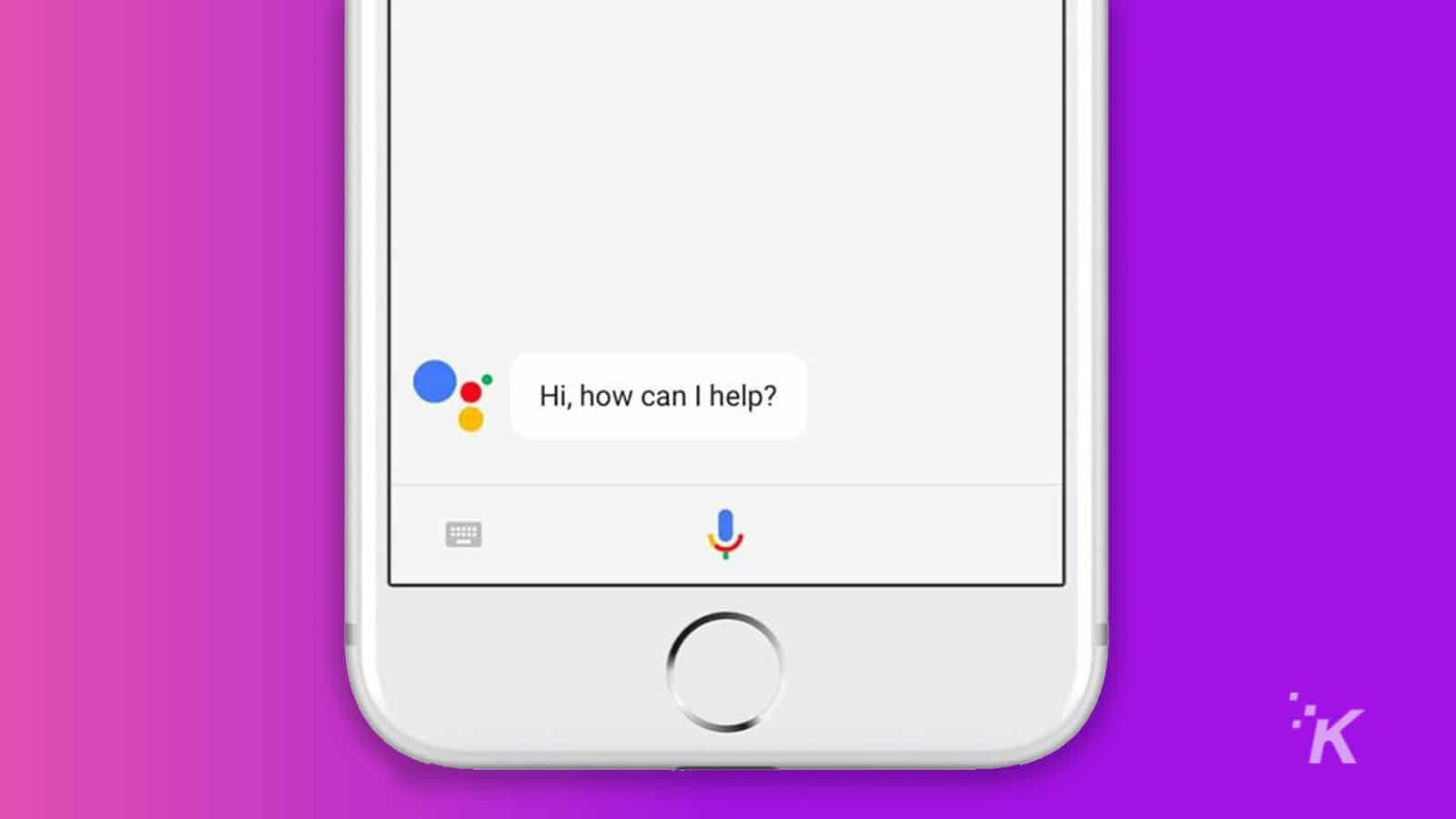 google assistant ok google on smartphone