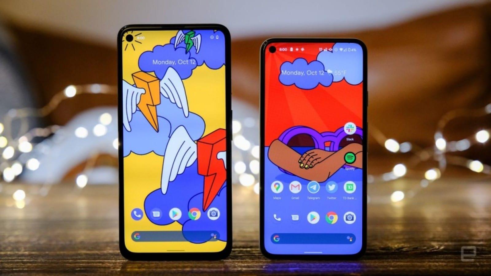 pixel 5 and pixel 4a 5g smartphones