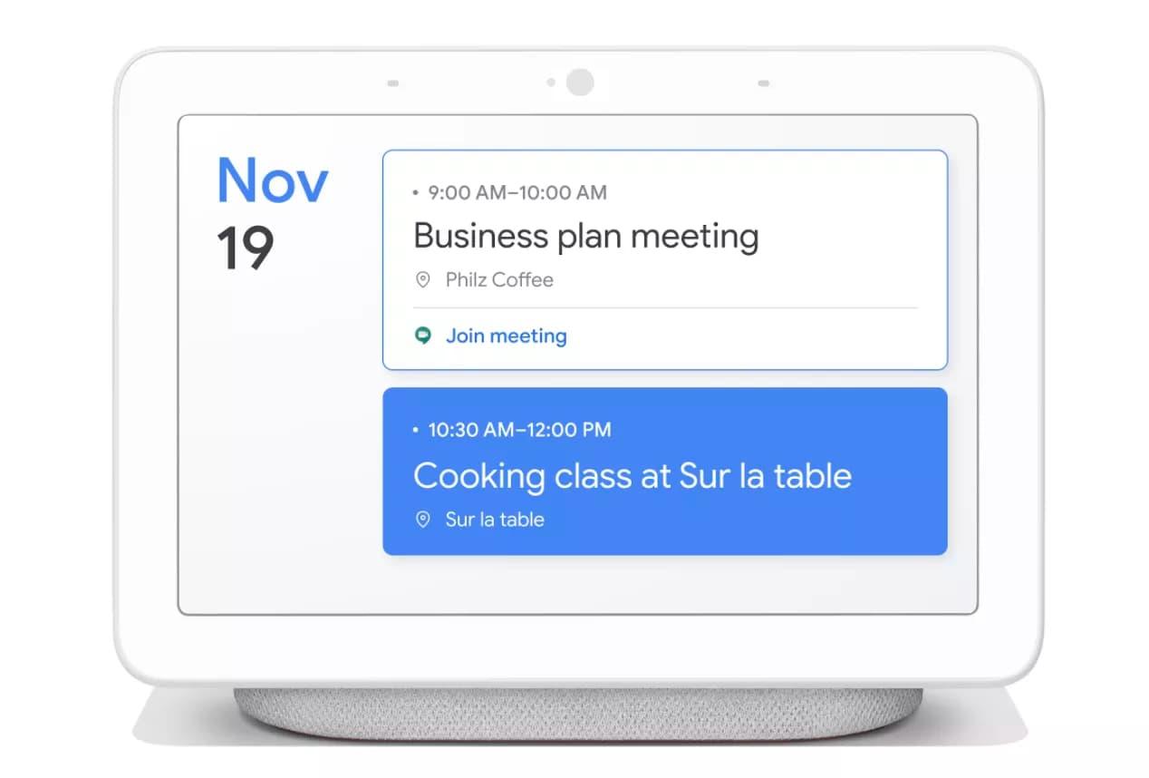 google smart display calendar