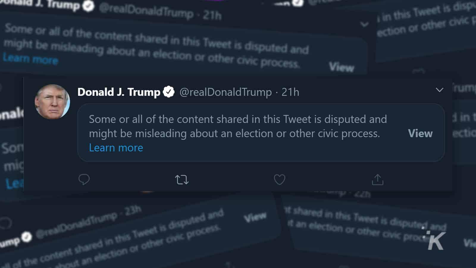 donald trump flagged tweets