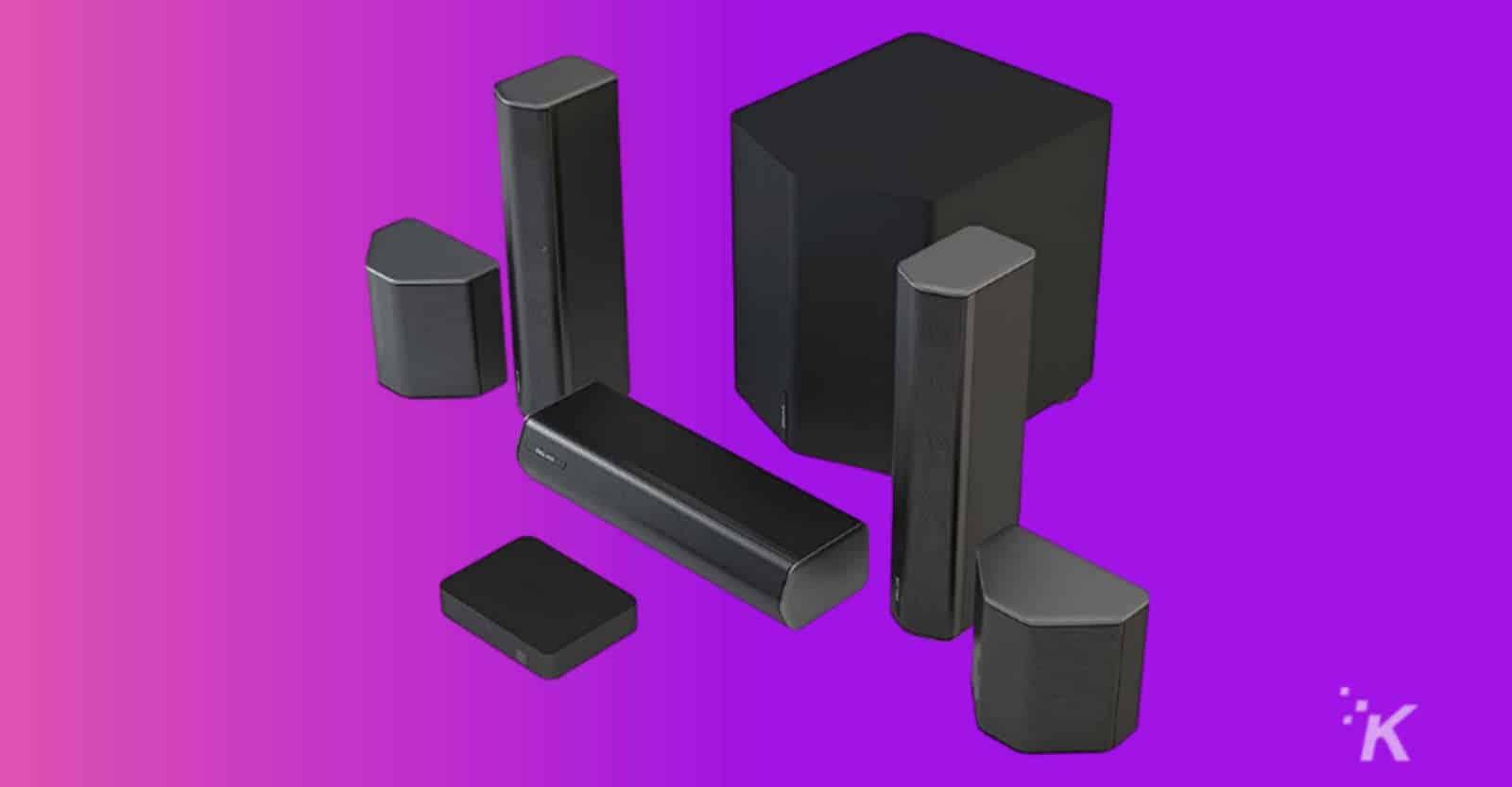 enclave cinehome wireless surround sound speakers