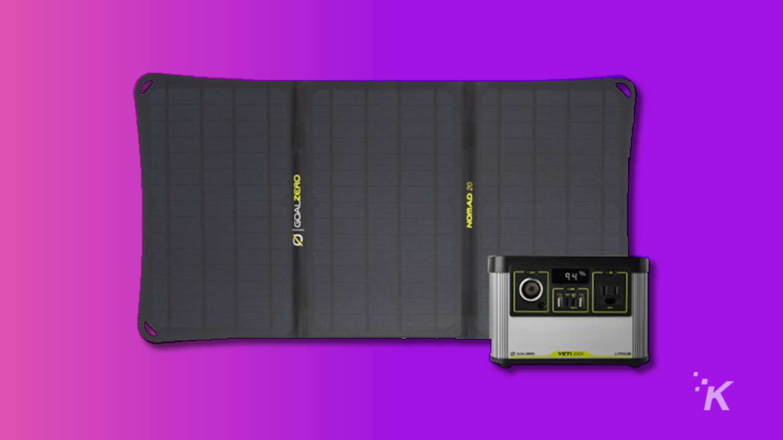 goal zero battery pack with solar panel