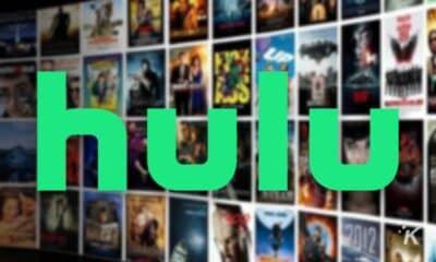 hulu logo on blurred background