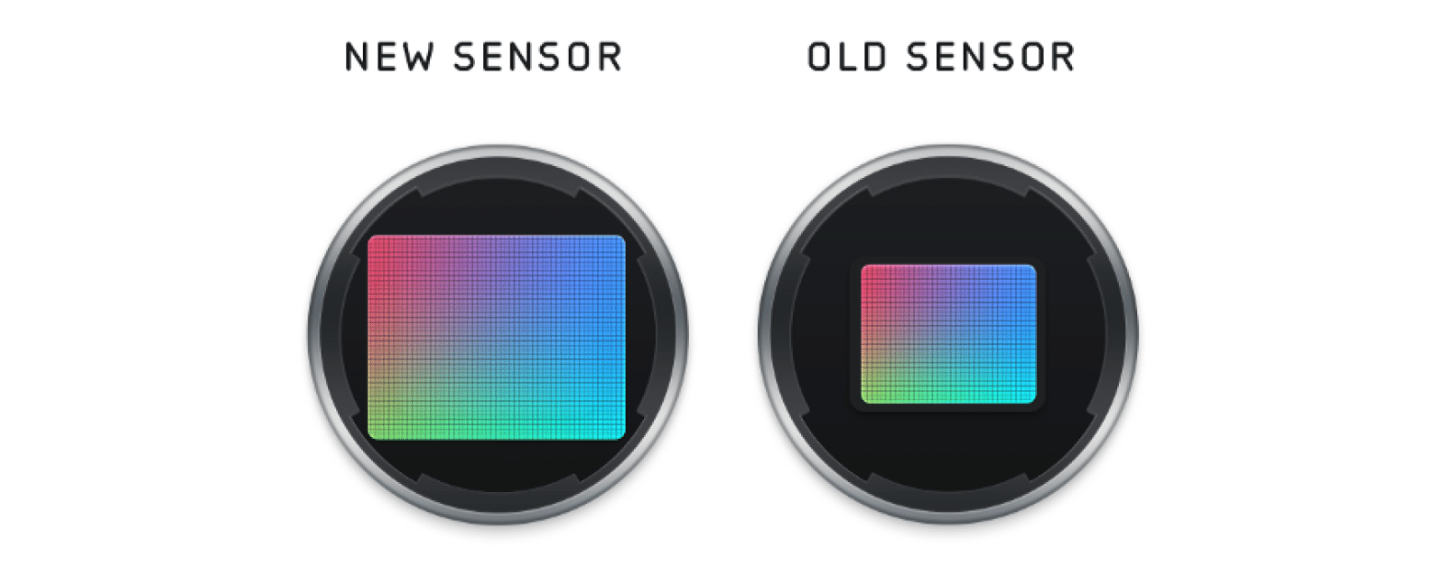 size of iphone 12 camera sensor vs iphone 11