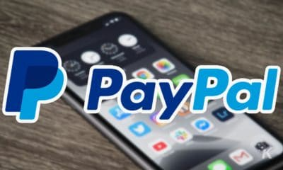 paypal logo on blurred background