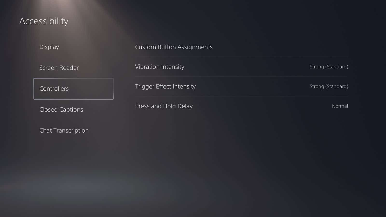 playstation 5 controller settings