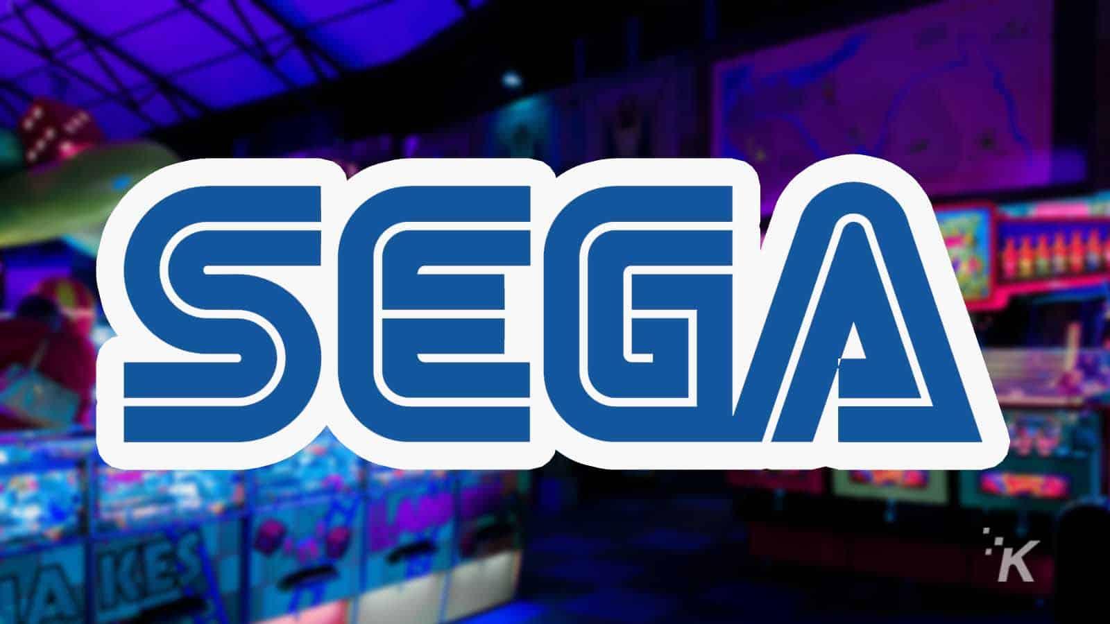 sega logo with arcade in background