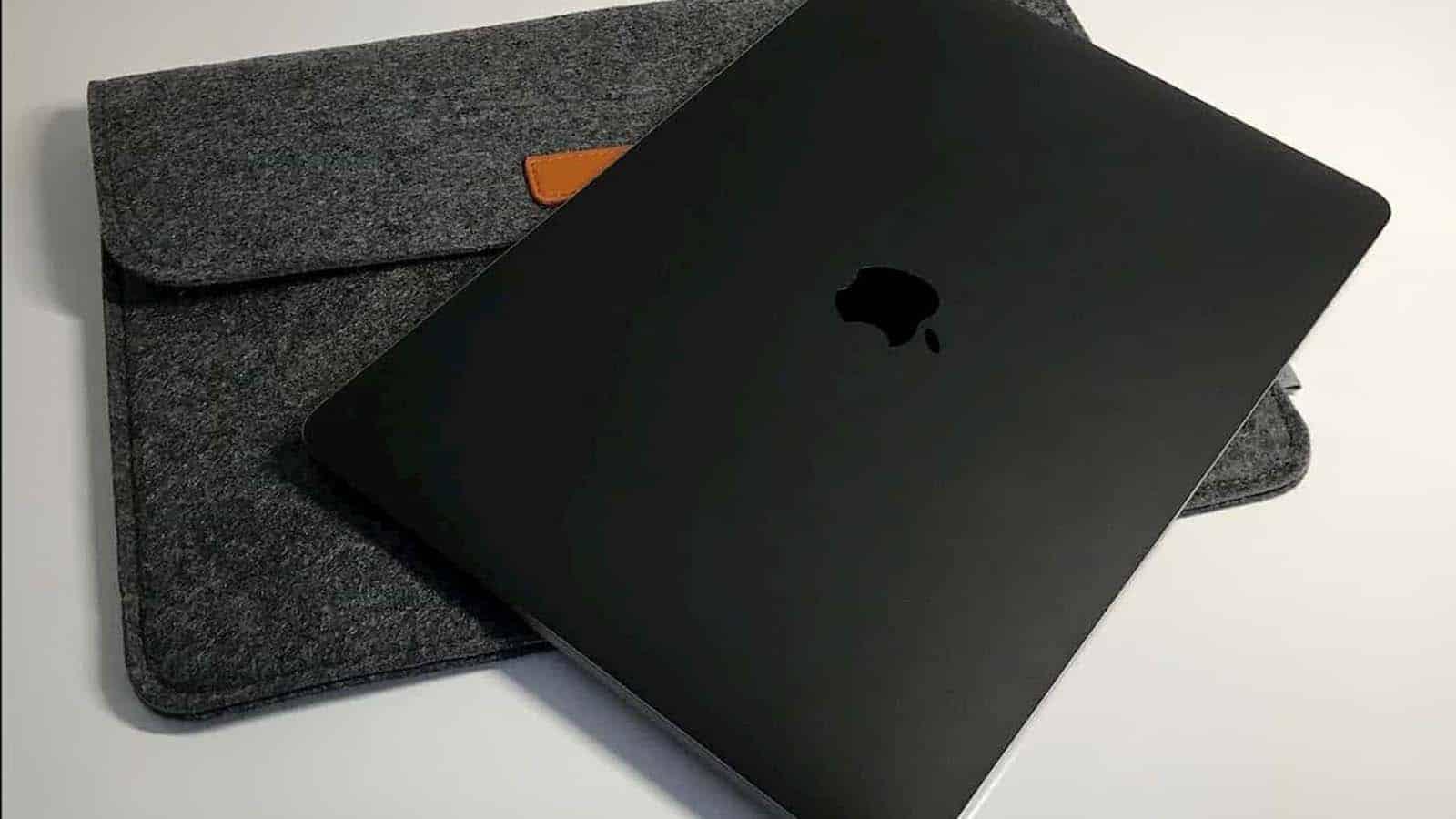 matte black macbook pro