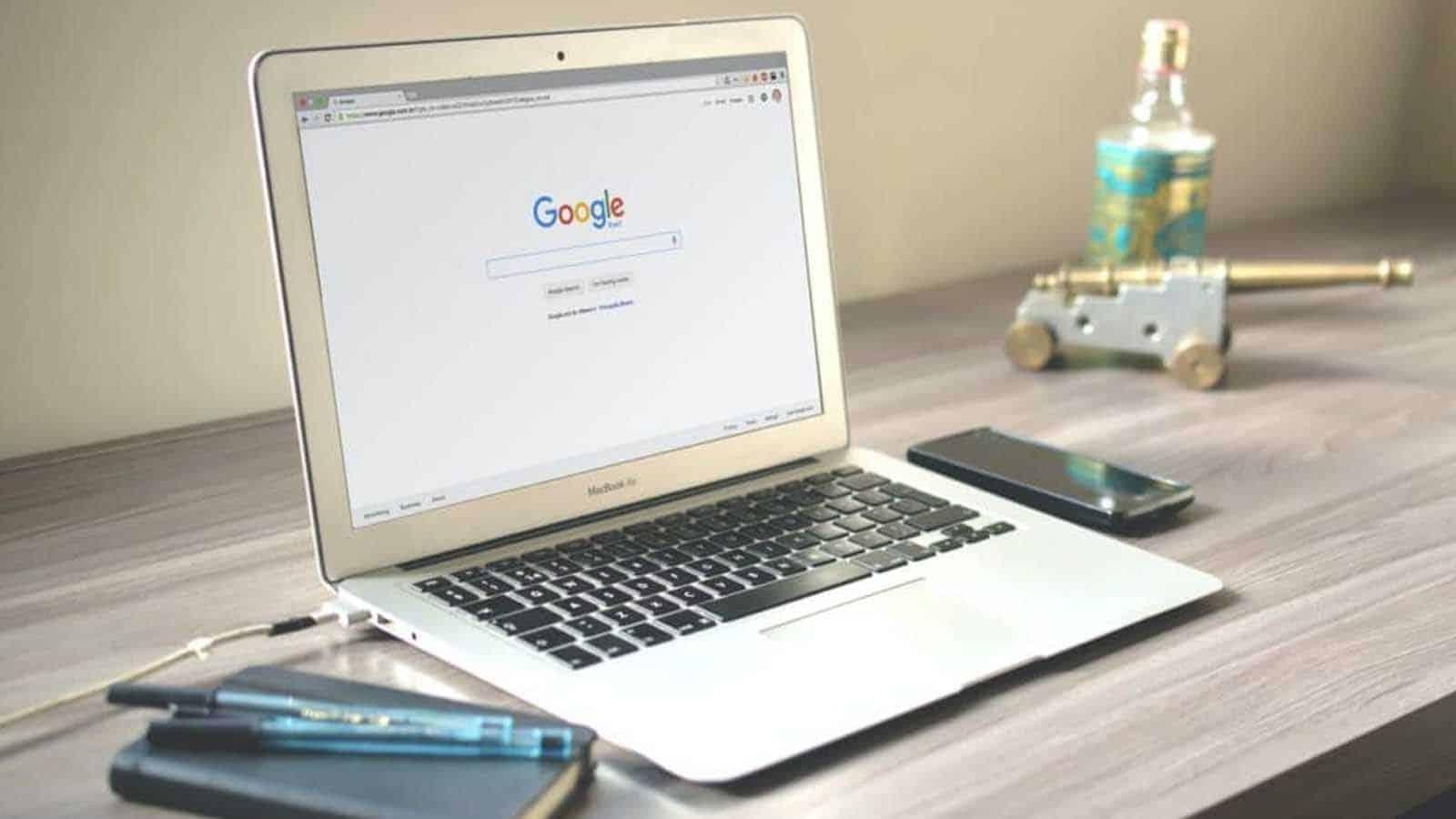google chrome on a macbook