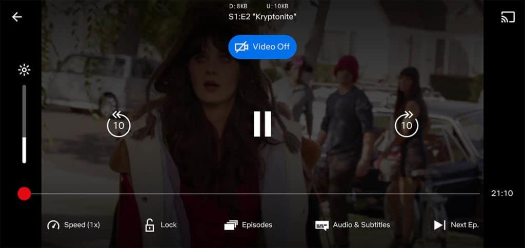netflix audio only mode