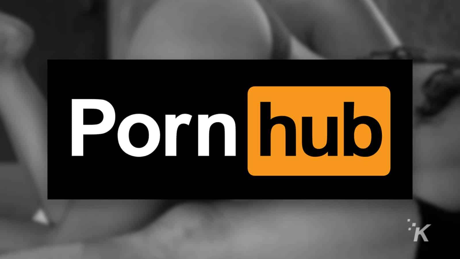 pornhub logo and blurred background