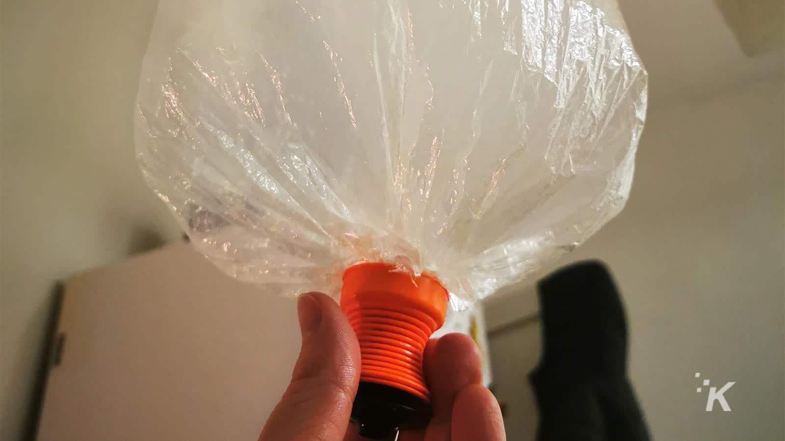 volcano balloon with vapor