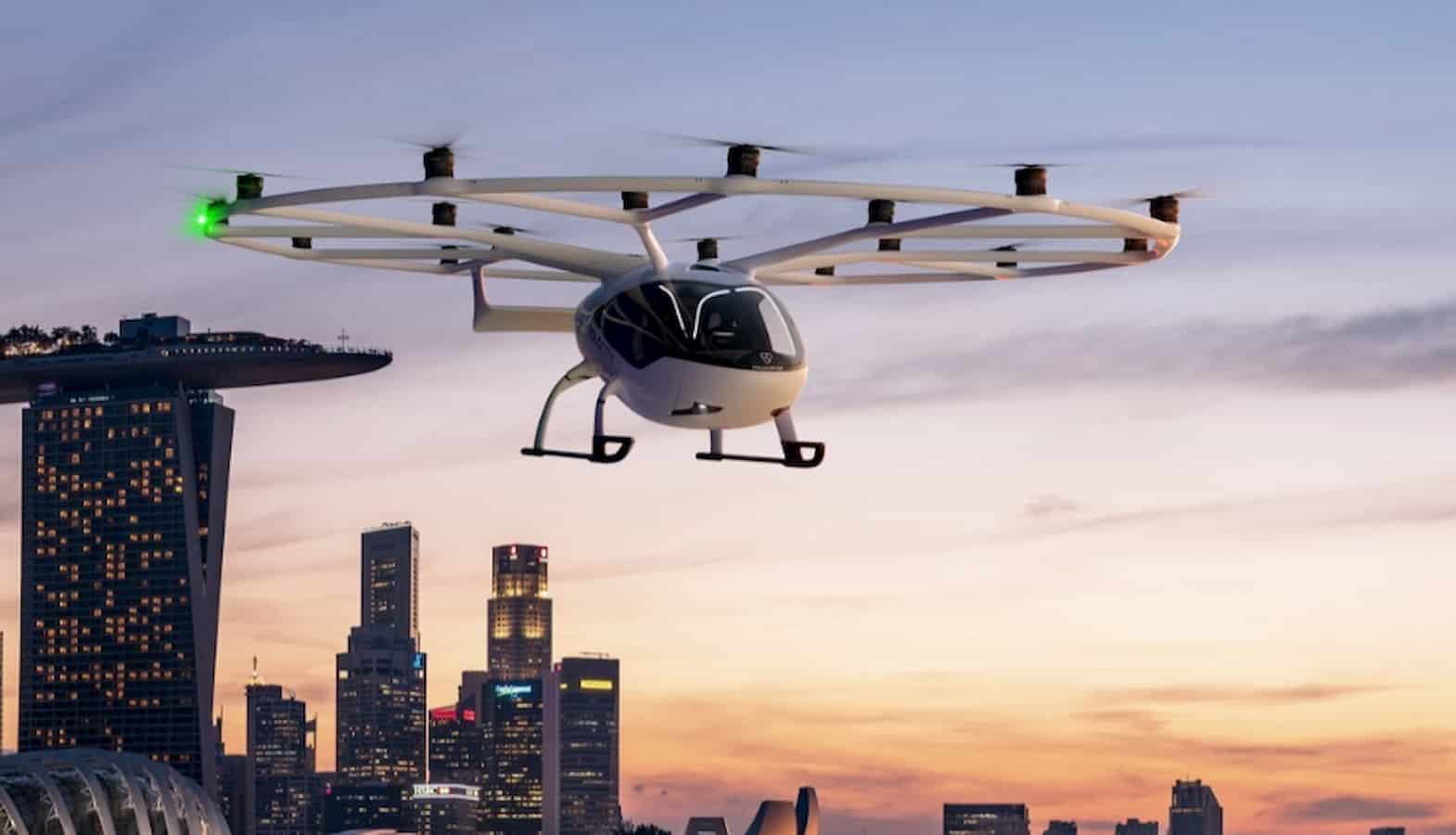 volocopter singapore flying taxi