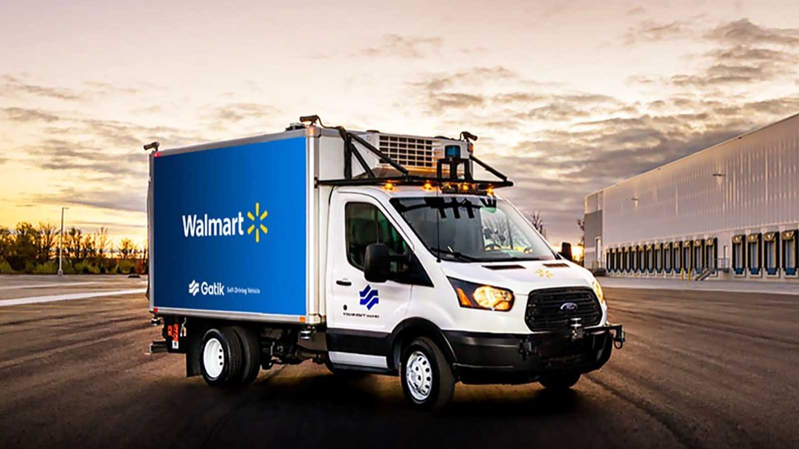 walmart self-driving delivery truck