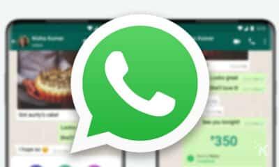 whatsapp logo and blurred background
