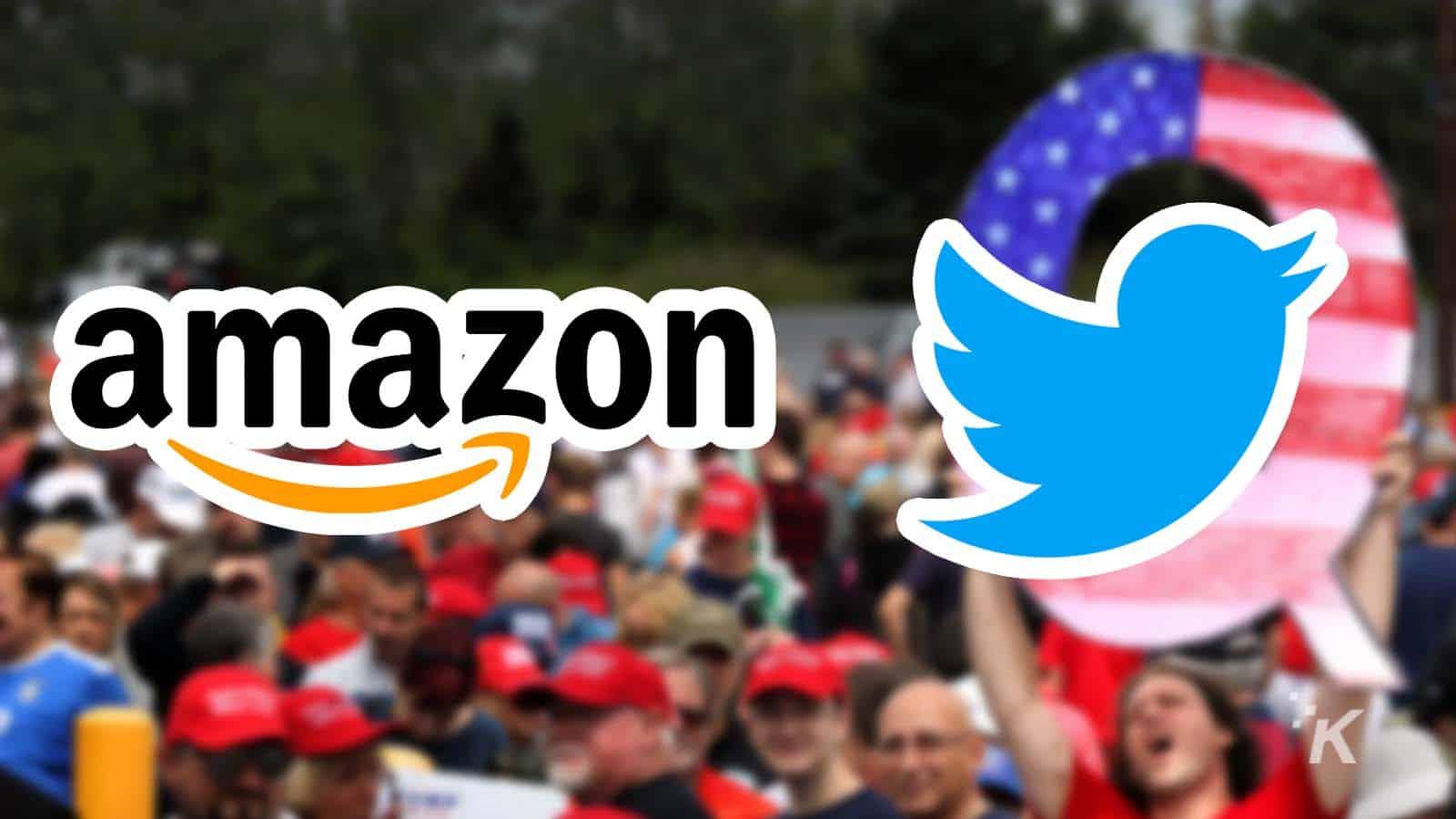 amazon twitter qanon logos