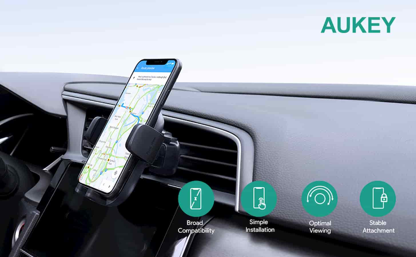 aukey phone mount