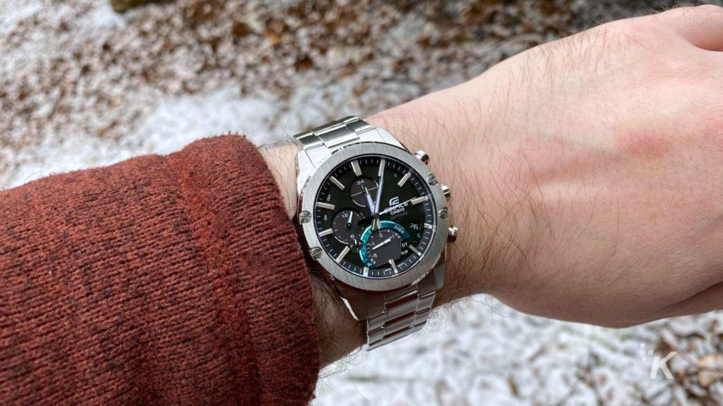 casio watch on wrist