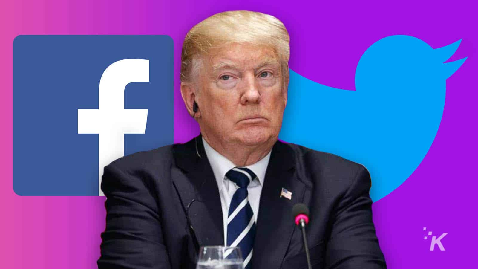 donald trump and facebook and twitter