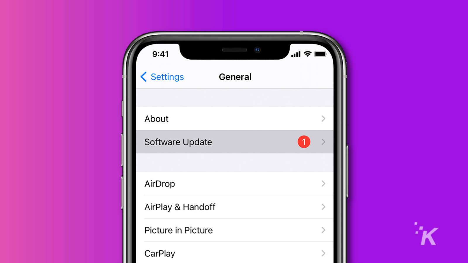 ios 14 settings software update