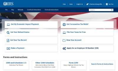 irs website main page