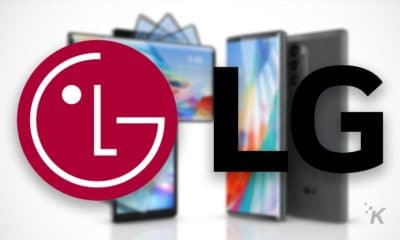 lg logo with blurred background of lg wing
