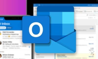 microsoft outlook logo on blurred background