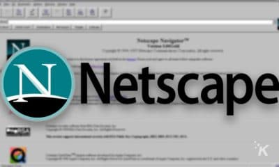 netscapee logo and blurred background brexit deal